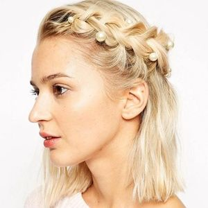 4 for $20 Pearl Spiral Hair Pins - 2pc (Gold)